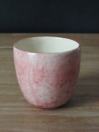 polished glazed pink cup 1 - 2009