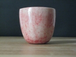 polished glazed pink cup 2 - 2009