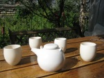 teapot and cups in the sculpture garden - 2010