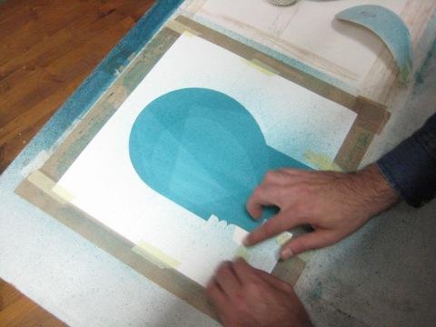 Iker Spozio making the artwork for the album