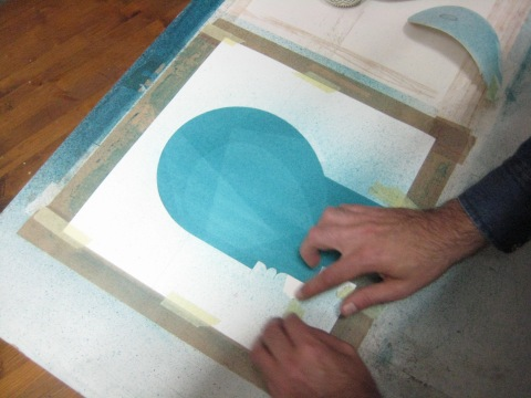 Iker Spozio making the artwork for the album