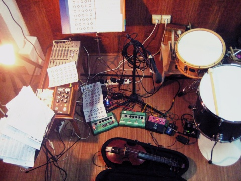 Rehearsing with new setup, 30 november 2014