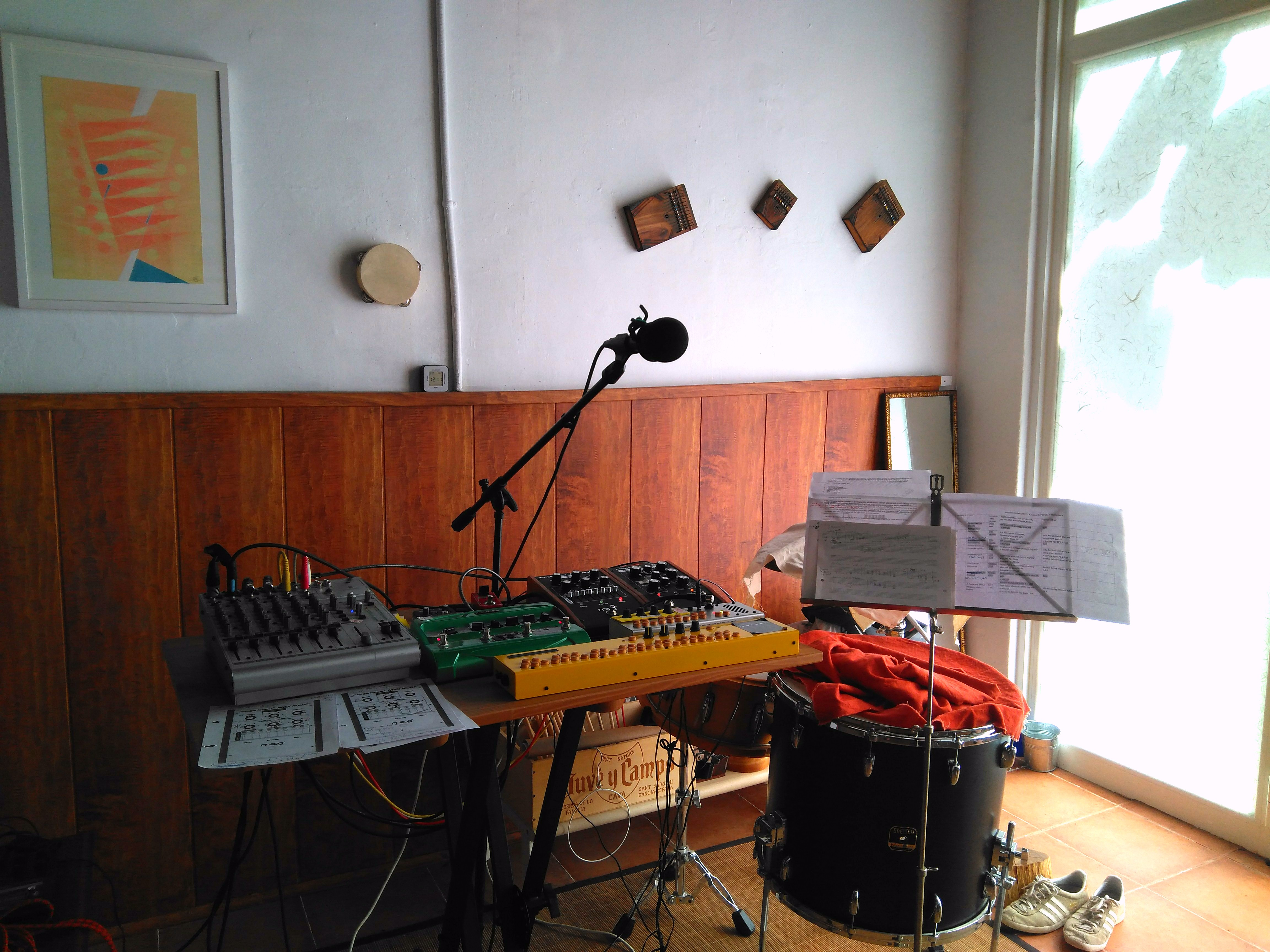 August 2017 Colleen Studio Live Recording Setup 2010 Made Up Of My Old Behringer Ub1204pro A Line 6 Dl4 Delay Tc Mini Hall Fame Reverb And Course The Two Critter Guitari Synths